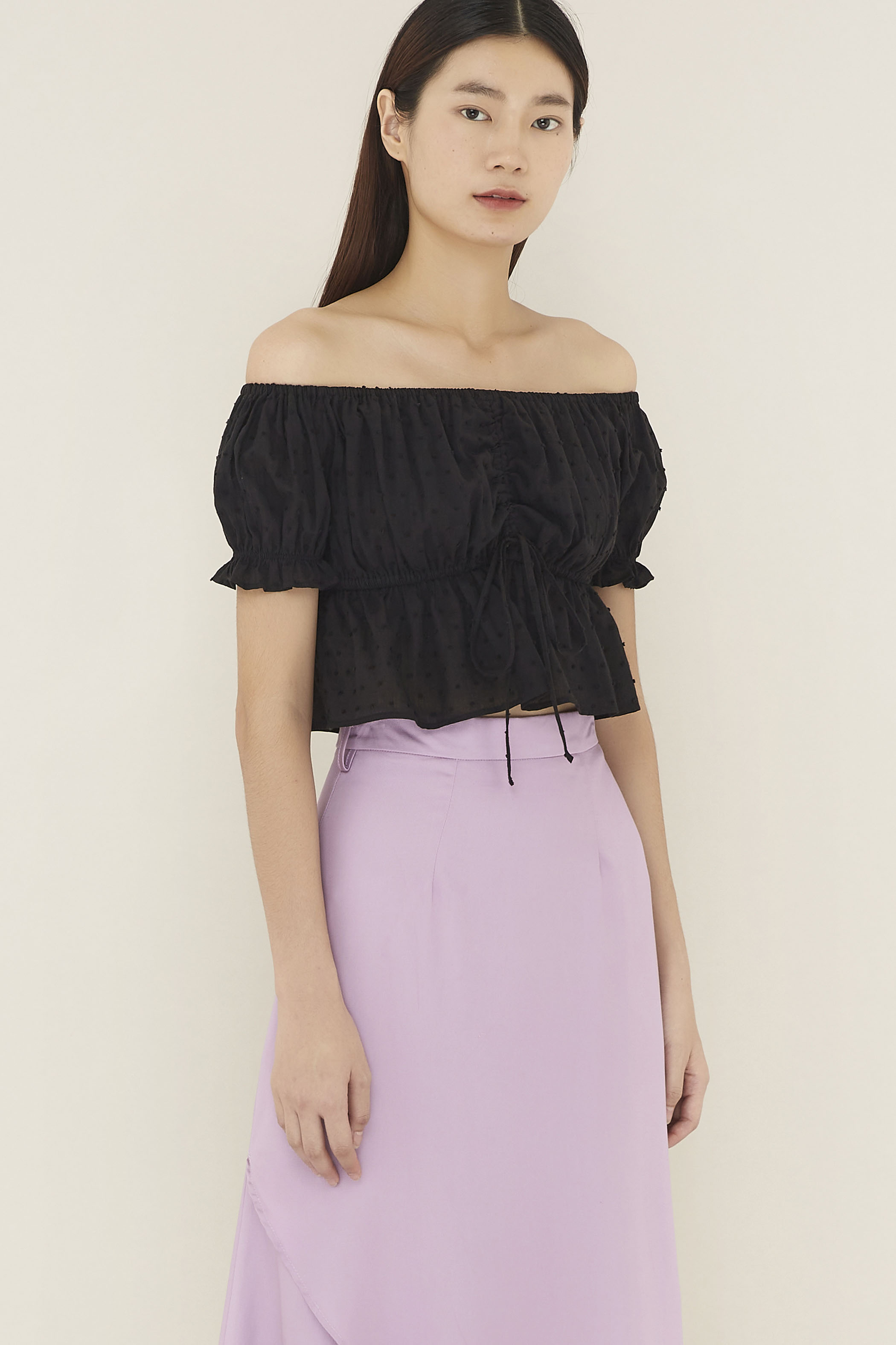 Chantel Ruched-front Top