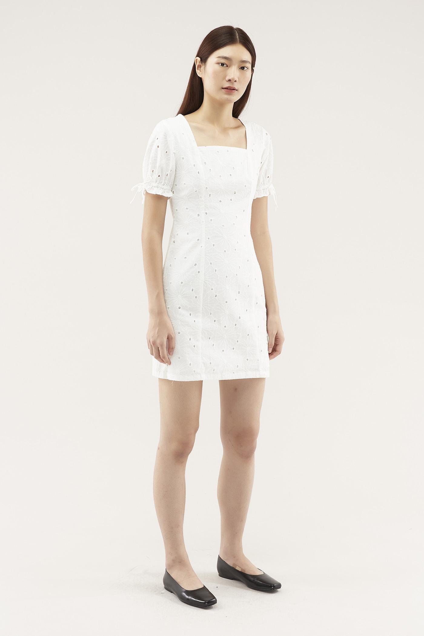 Lexie Square-neck Shift Dress