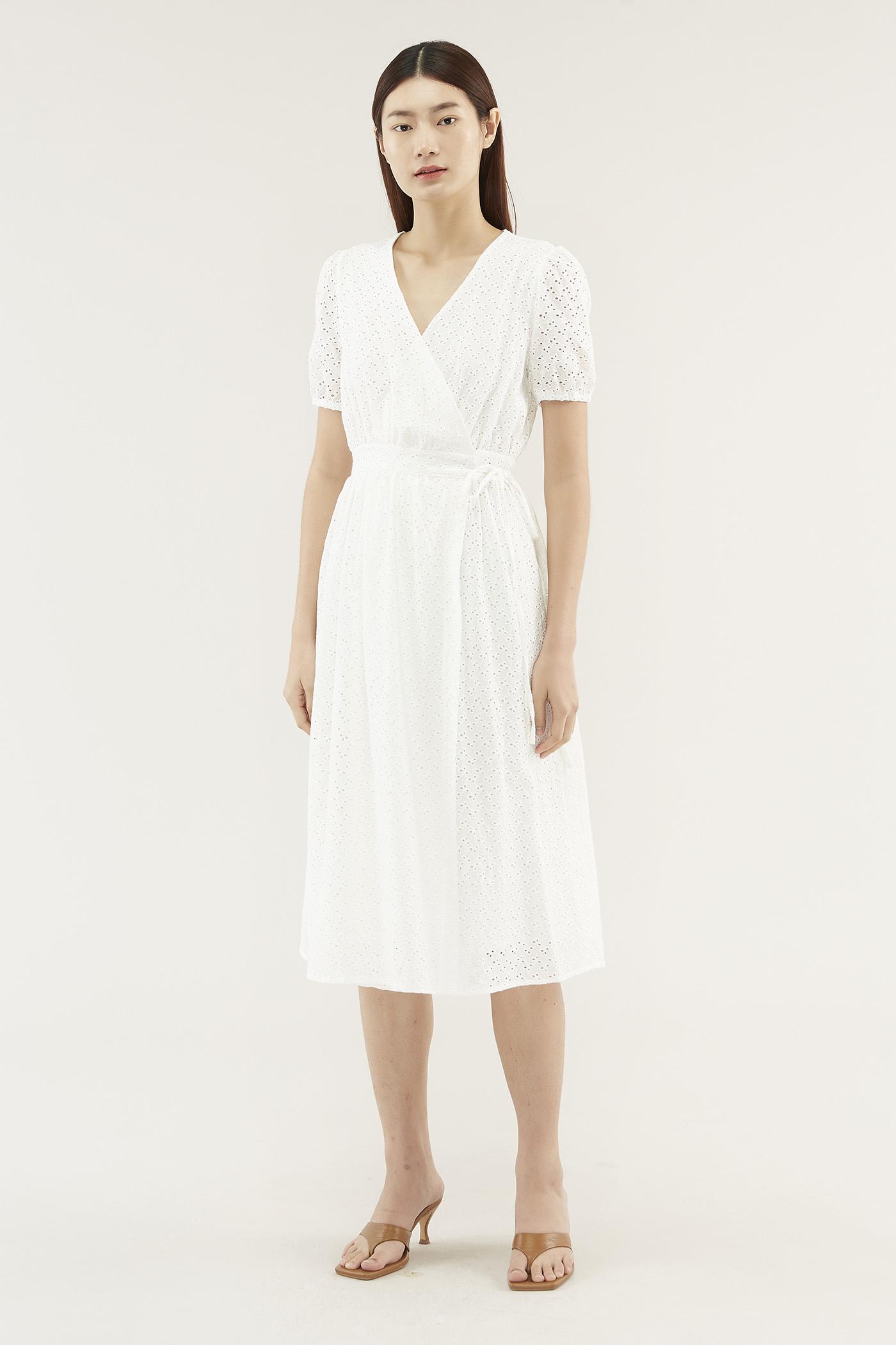 Rayana Eyelet Wrap Dress