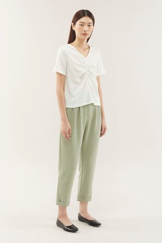 Chelby Ruched-front Top