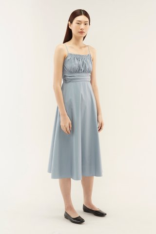 Katriel Ruched Midi Dress