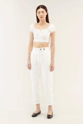 Teara Linen Crop Top