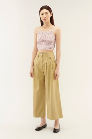 Deanna Ruched Crop Top
