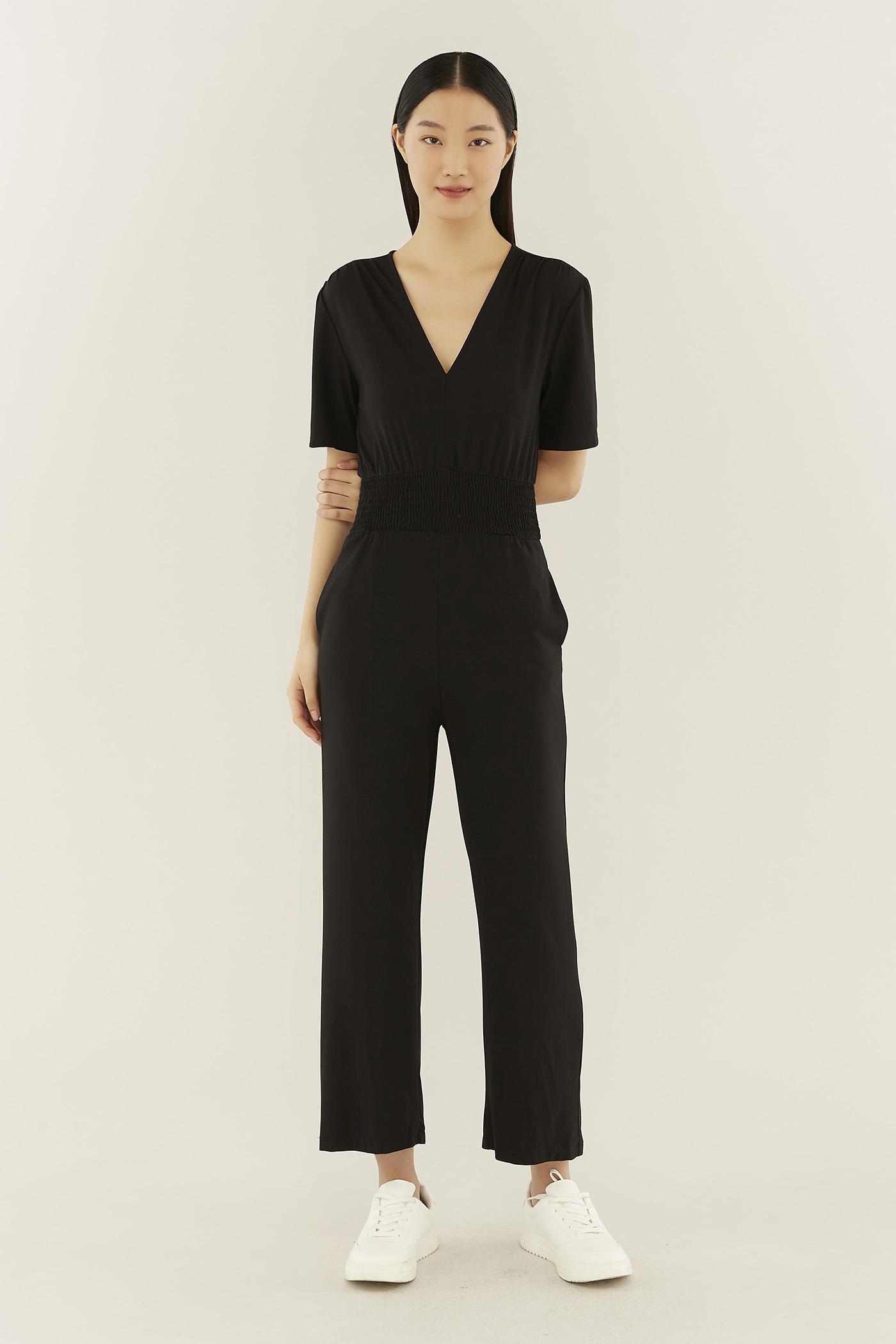 Terryn Smock-waist Jumpsuit