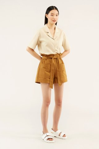 Marley Notch-collar Blouse