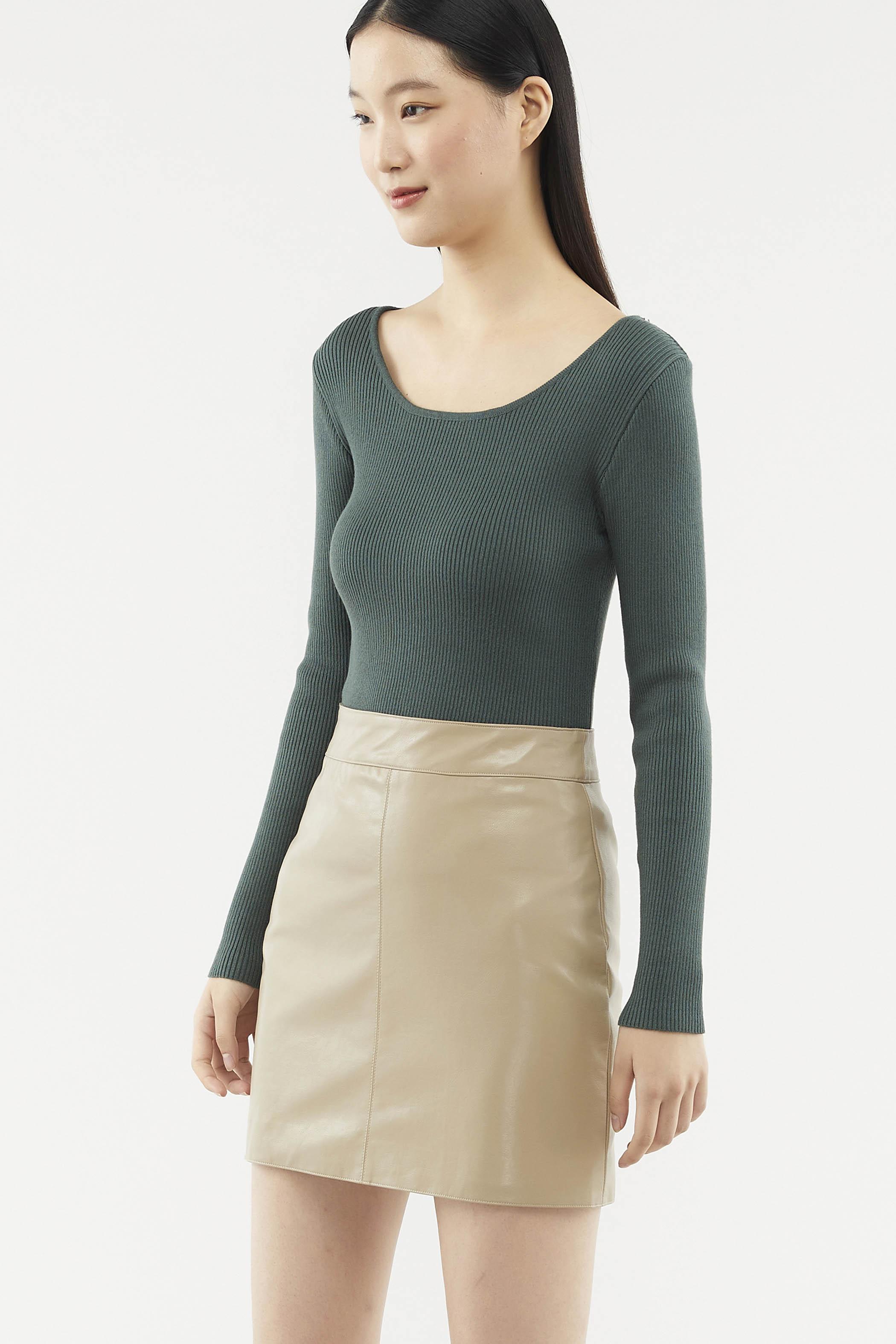 Valerie Long-sleeve Knit Top