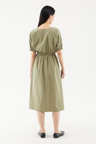 Zaleene Puff-sleeve Dress