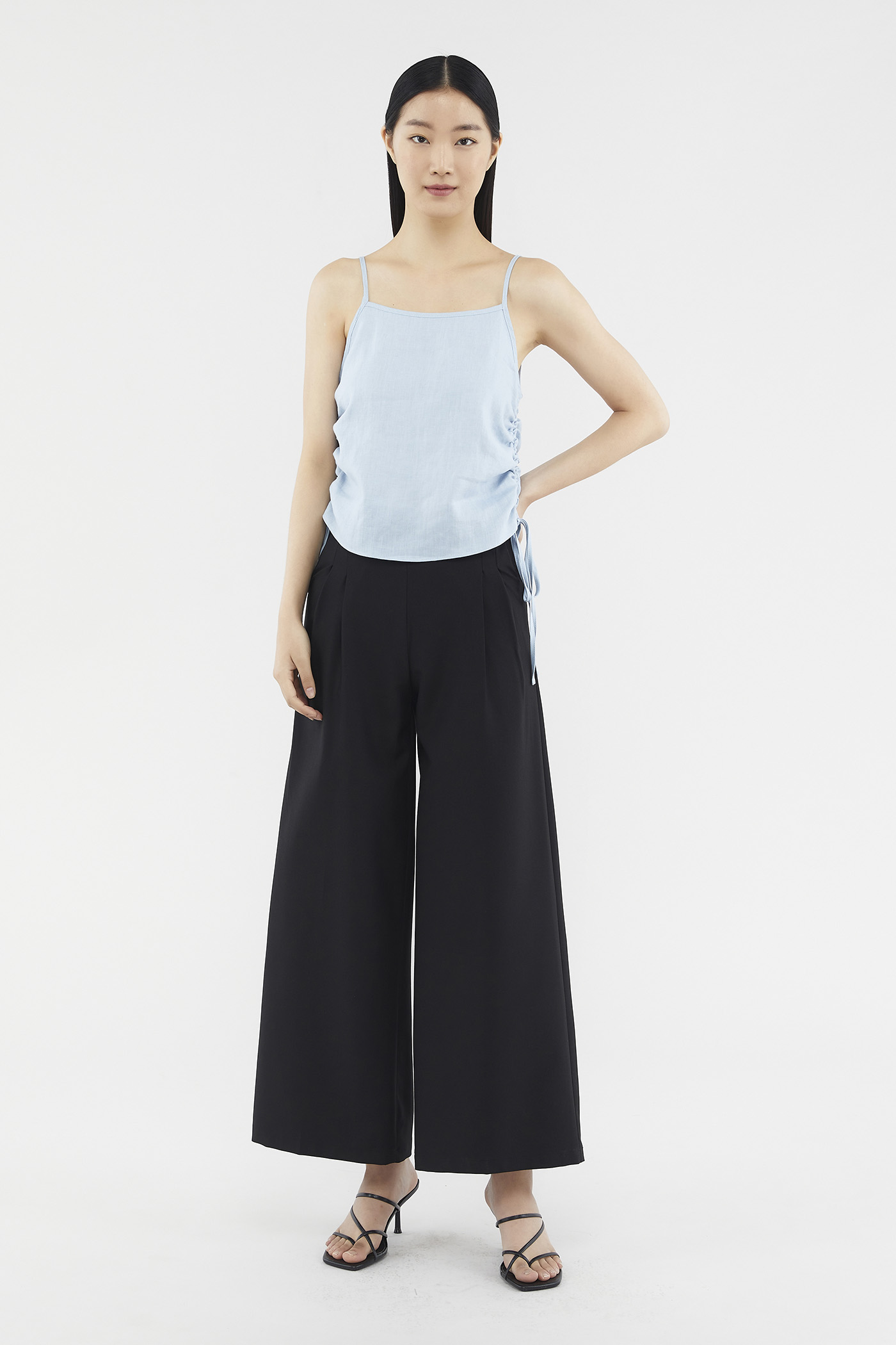 Jaynise Side-pleat Pants