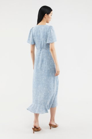 Valene Frill-trim Wrap Dress