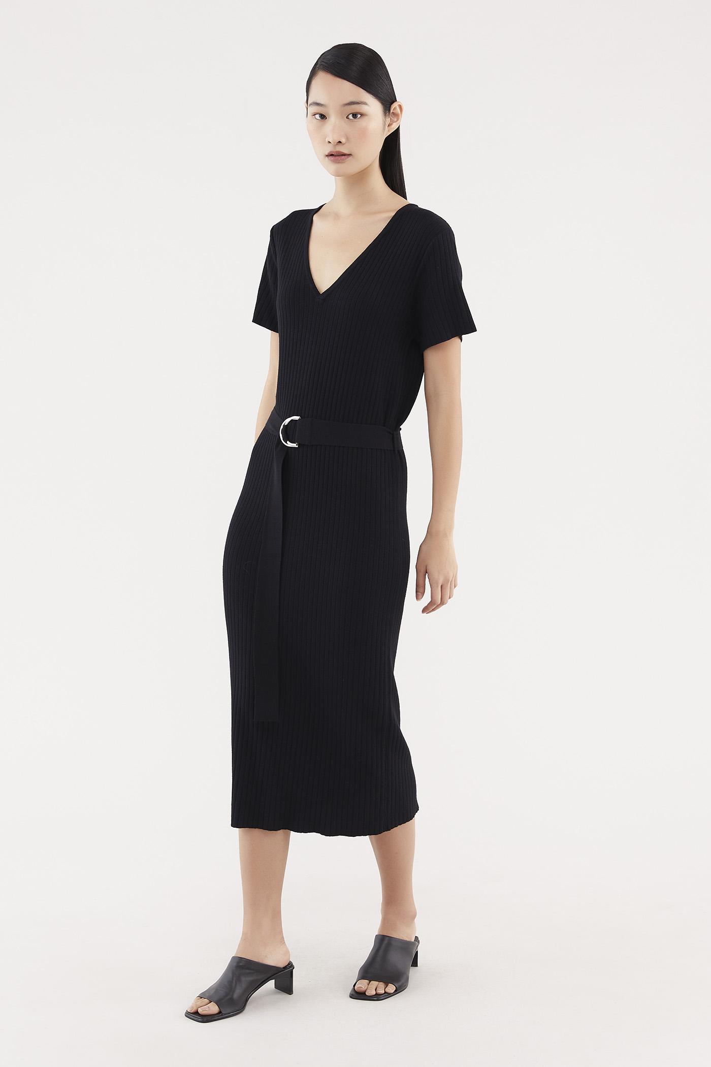 Nydia Ribbed Knit Dress