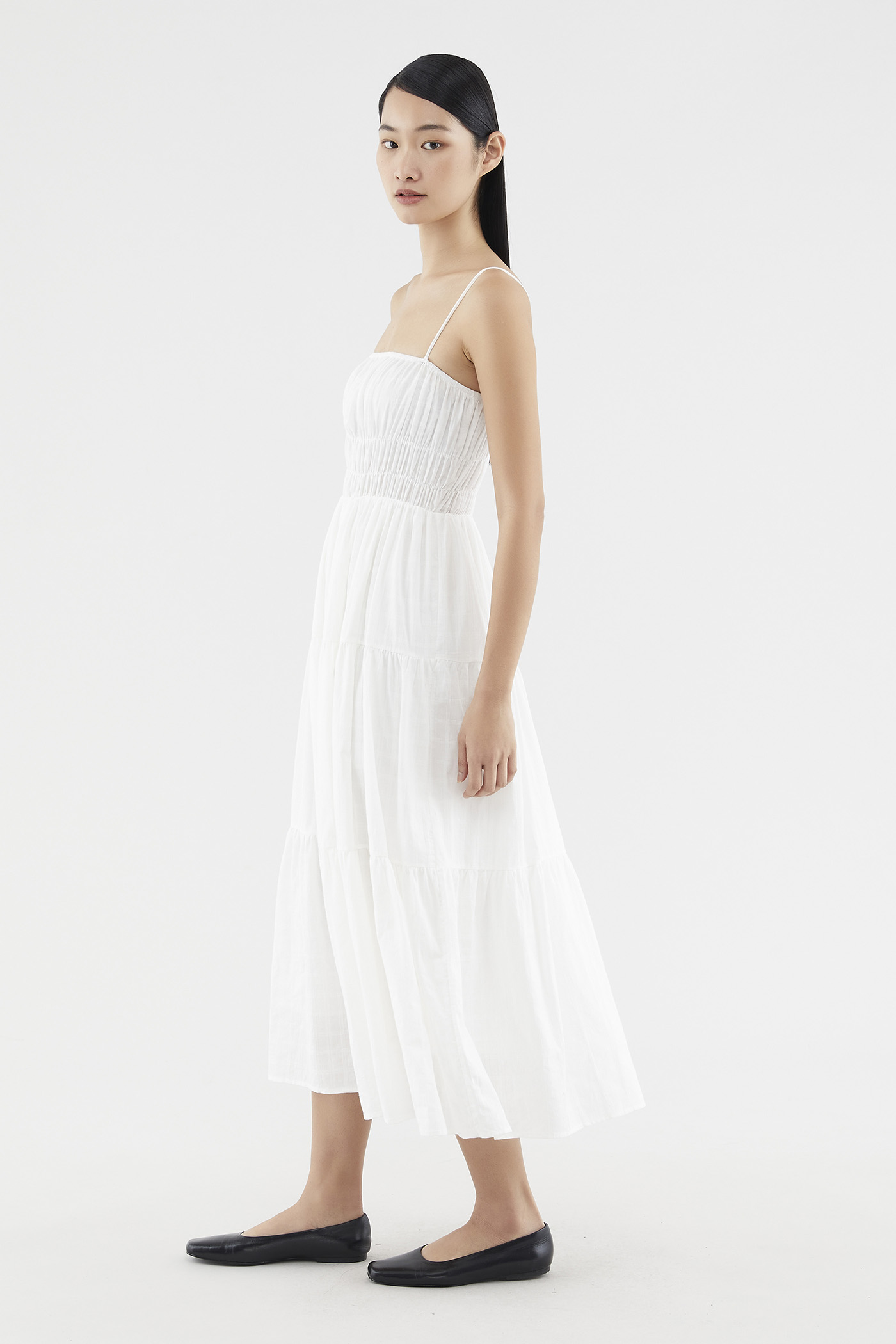 Karisa Shirred Maxi Dress
