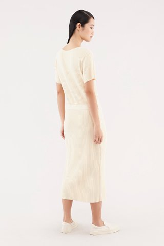 Nydia Ribbed Knit Dress