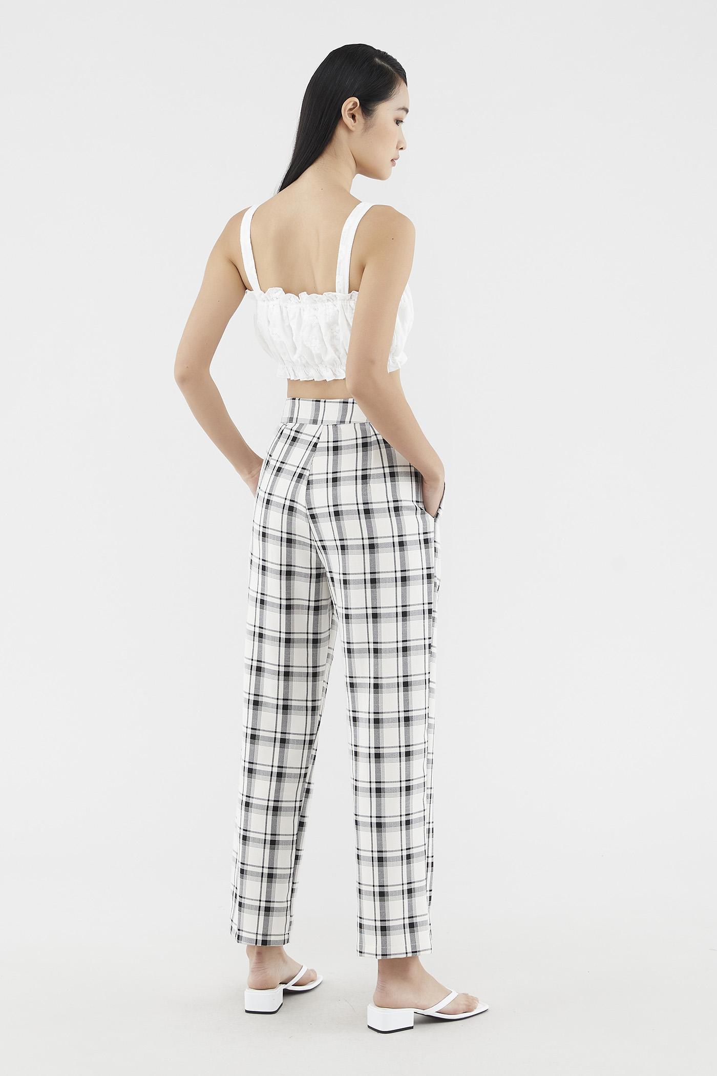 Evana Check-print Pants