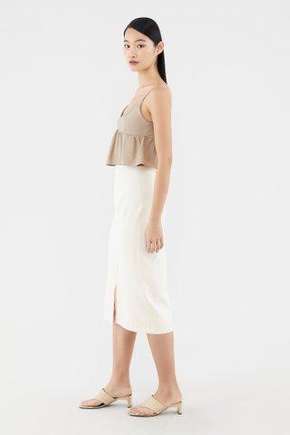 Sherlie Front-slit Midi Skirt