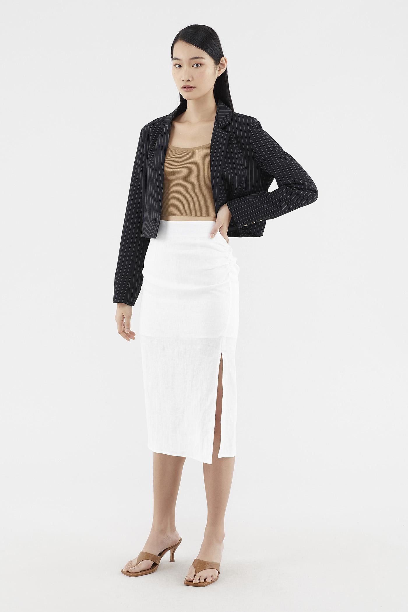 Semira Ruched Pencil Skirt