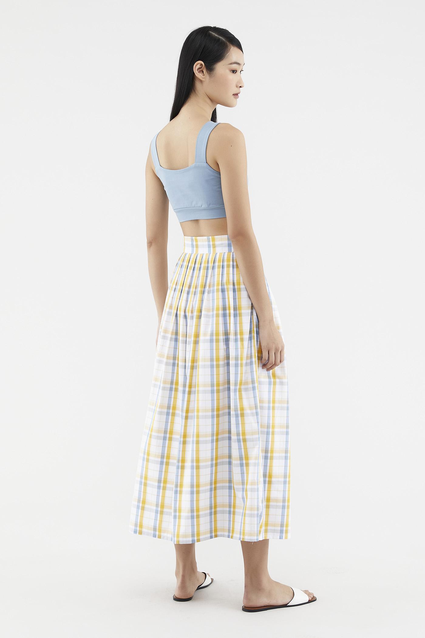 Caylin Check-print Skirt