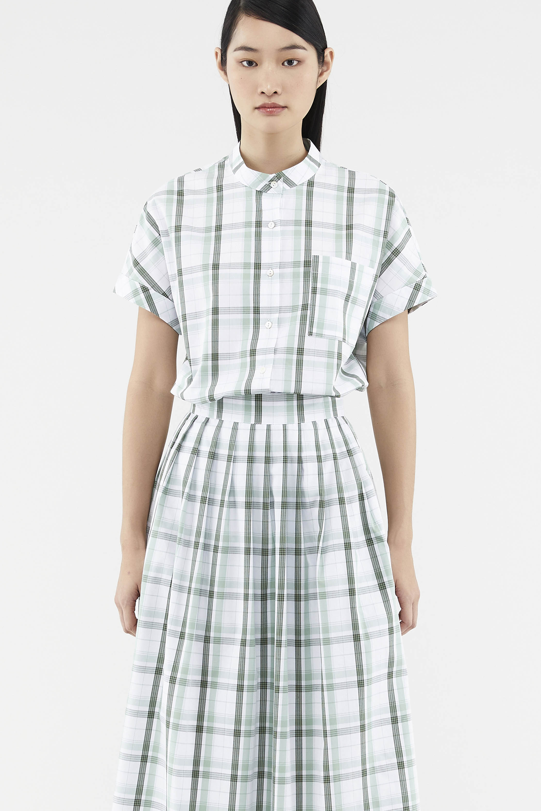 Carlynn Check-print Shirt