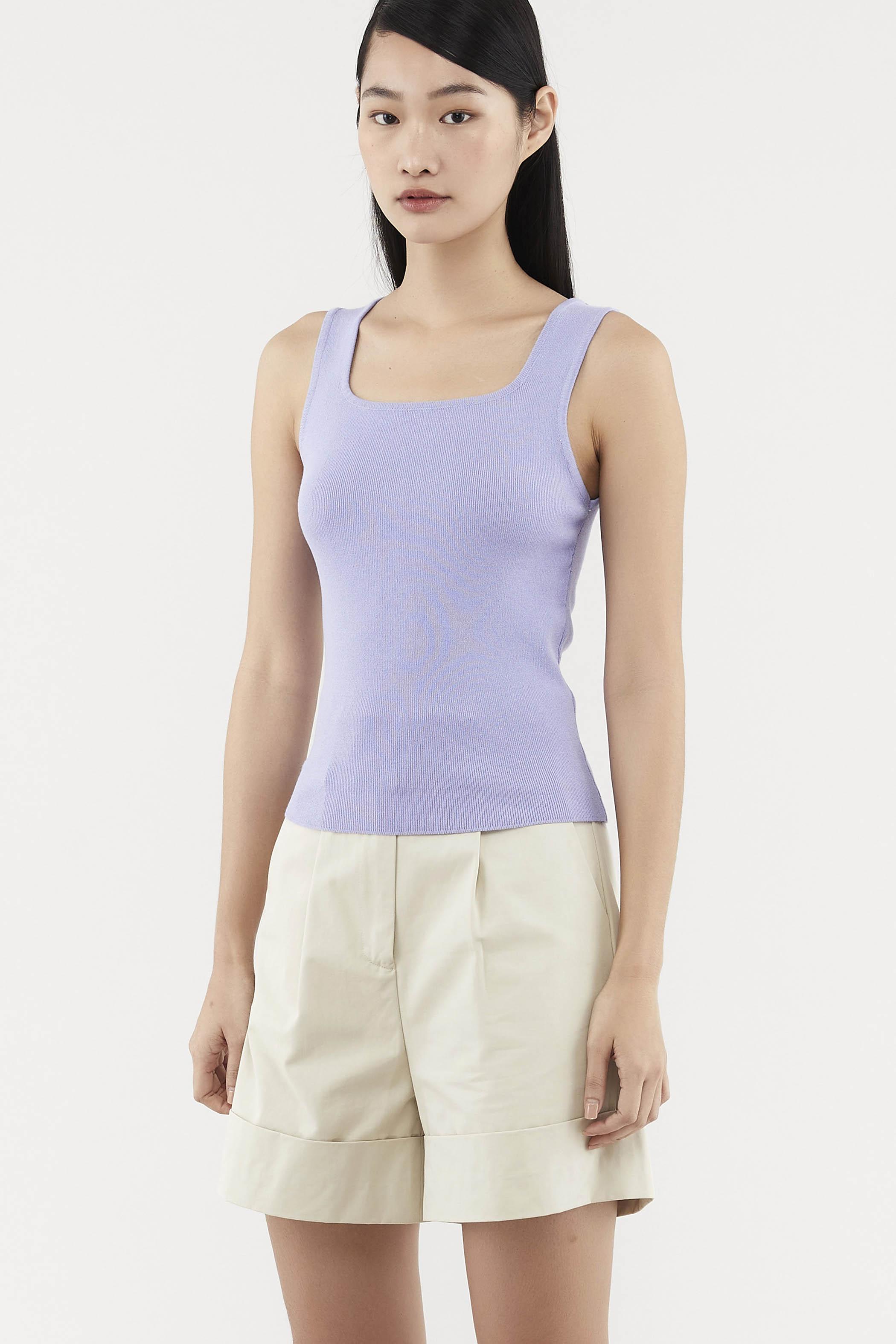 Aspen Square-neck Knit Top