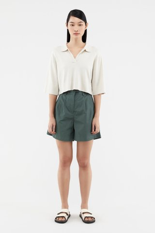 Maysen Collared Knit Top