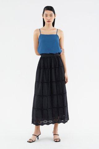 Clarisa Broderie Maxi Skirt