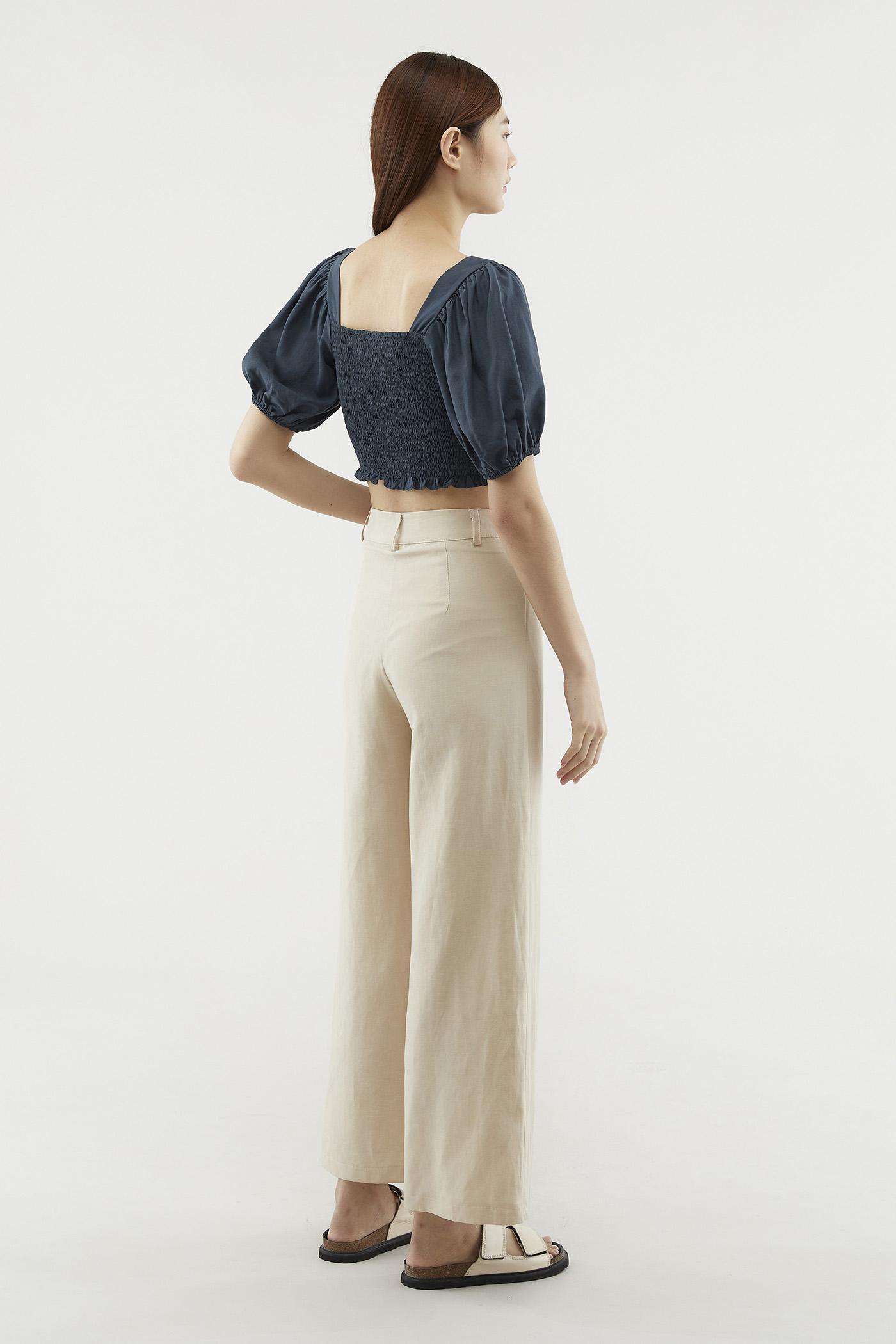 Lorine Puff-sleeve Blouse