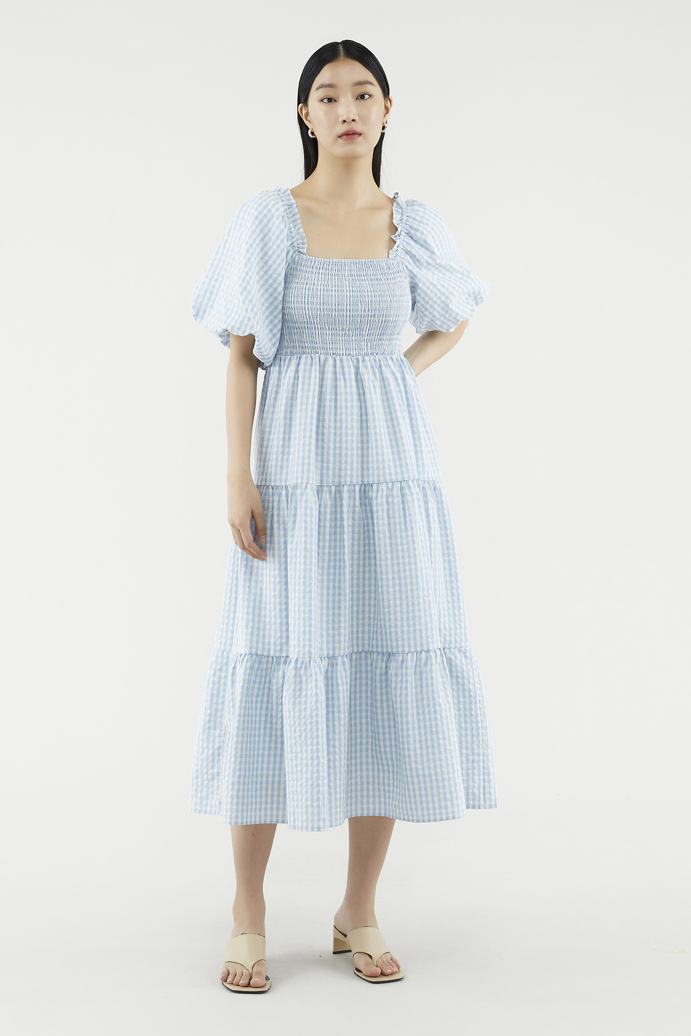 Brigette Puff-sleeve Dress