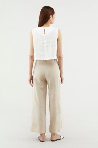 Macee Linen Crop Top