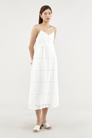 Chelsea Broderie Maxi Dress