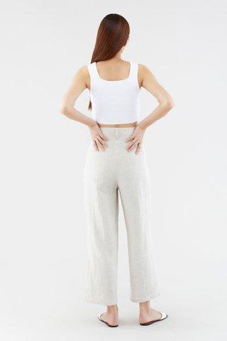 Nattie Curve-seam Crop Top