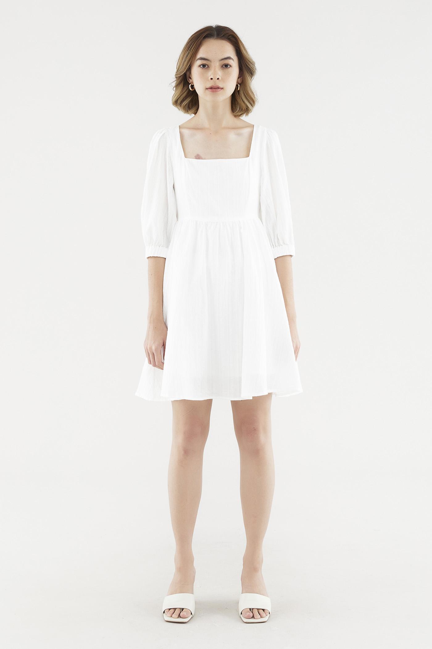 Jamelia Square-neck Dress