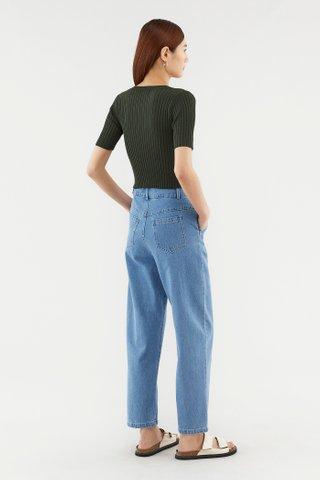 Zandy Button Knit Top