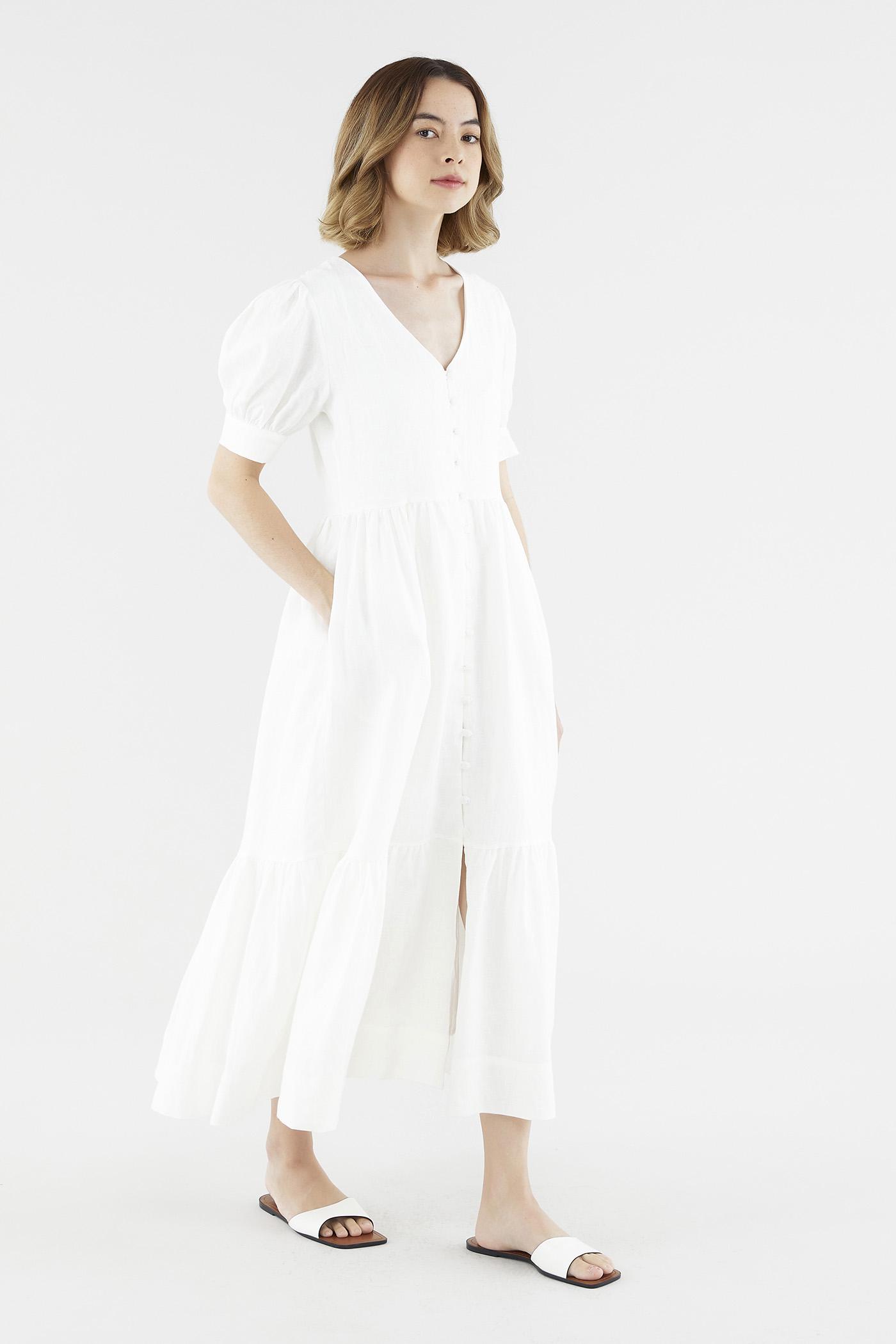 Marlo Puff-Sleeve Dress